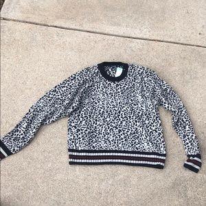 Splendid leopard print sweater, XS